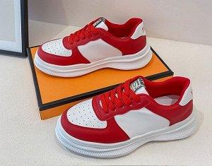 Женские кроссовки, цвет белый/красный