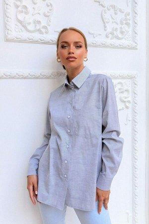 Рубашка Классическая рубашка легко сочетается с летними брюками или юбкой. Собрать офисный лук с этой моделью можно в два счёта. Дышащий, комфортный к телу материал. Официальность образу придаёт длинн