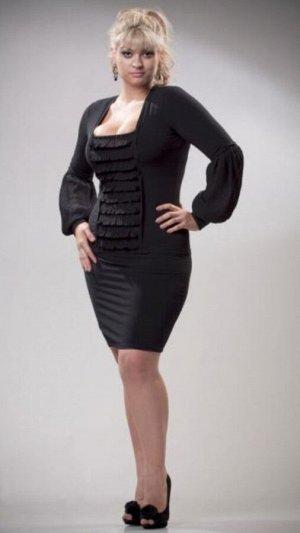 Платье чёрное, ткань плотное масло. Актуально!