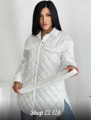 Женская куртка-рубашка. Ткань синтепон