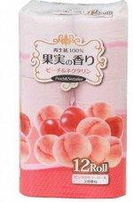 IDESHIGYO Туалетная бумага двухслойная, аромат персика и нектарина 30,0 м, 12 рулонов