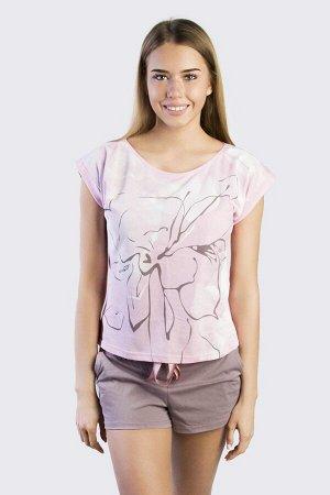 """Комплект женский, """"Кофе-Art"""", шорты с футболкой"""