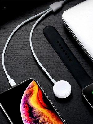 Зарядное устройство 2 в 1 для iPhone и iWatch