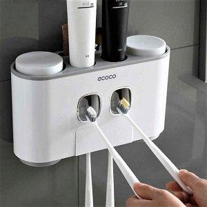 Органайзер-диспенсер для ванной, серый