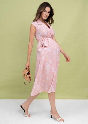 """Платье """"Уэнди"""" для беременных и кормящих пудровое"""