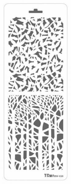 Трафарет двойной декоративный пластиковый 11,5*32см
