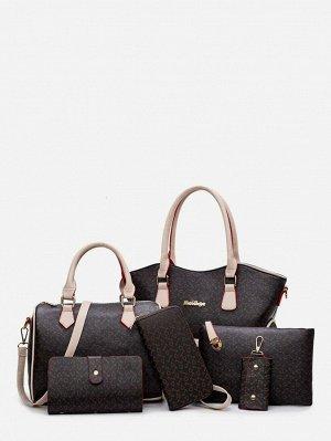 Чёрный Повседневный Набор сумок