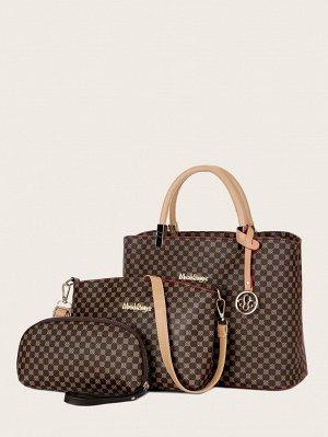 Набор сумок с металлическим декором