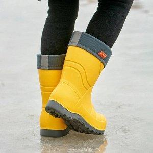 Сапоги детские Nordman Flash со съемным флисовым утеплителем желтые