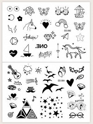 Наклейка 'татуировка' 2 листа
