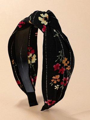 Ободок для волос с цветочным принтом