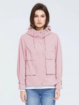 ZIAI Пальто с капюшоном и карманом