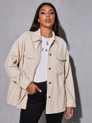 Вельветовая куртка с карманом