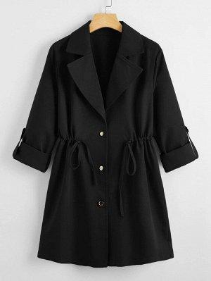 Пальто на кулиске с пуговицами