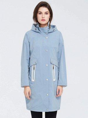 ZIAI Пальто с капюшоном на молнии