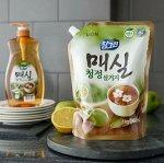 """LION Средство для мытья посуды, овощей и фруктов  """"CHAMGREEN"""" Японский абрикос, мягкая упаковка"""