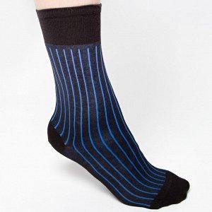 Мужские носки  рисунок вертикальные полоски