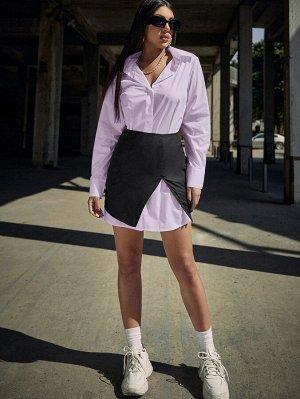 Платье-рубашка с пуговицами и корсет
