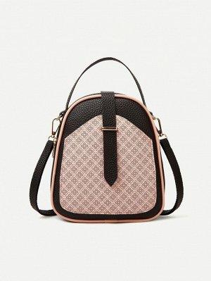 Рюкзак Тип: Классический рюкзак Стиль: Модный Цвет: Розовые Тип ремешка: Регулируемый, Верхняя ручка Размер сумки: маленький Принт: Со цветочками Материал: Искусственная Кожа ингредиент: 100% Искусств