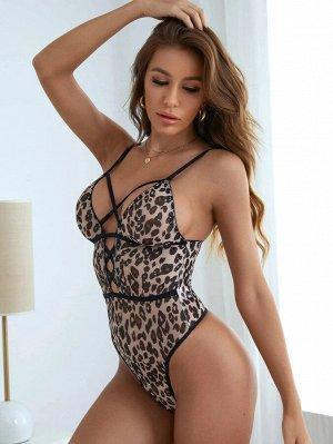 Боди с леопардовым принтом