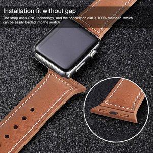 Ремешок для Apple Watch Premium эко-кожа + резиновая подложка 42-44mm