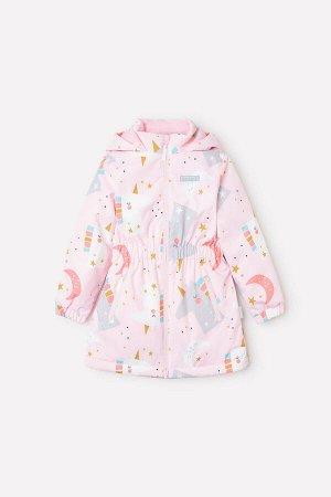 Куртка(Осень-Зима)+girls (розовый, месяц и единорог)