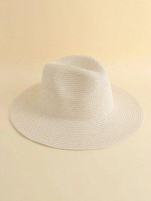 Однотонная соломенная шляпа