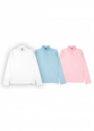 Водолазка для девочки 62460, цвета в ассортименте (белый, голубой, розовый)