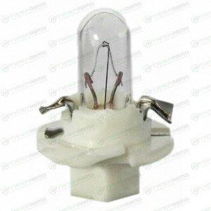 Лампа LYNXAuto BAX (BX8.4d white, T4.7), 12В, 2Вт, комплект 10 шт (стоимость за упаковку 10 шт)
