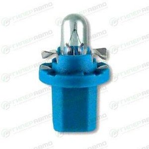 Лампа LYNXAuto BAX (BX8.5d blue, T5), 12В, 1.2Вт, комплект 10 шт (стоимость за упаковку 10 шт)
