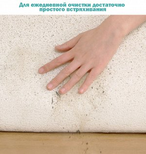 Коврик мягкий для ванной комнаты квм 08 45х75 см