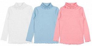 Водолазка для девочки 62444. цвета в ассортименте (белый, голубой, сиреневый)