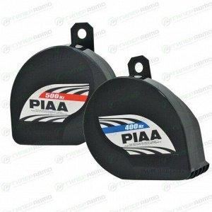 Сигнал звуковой PIAA Slender Horn, 12В, частота 400Гц/500Гц, громкость 112дБ, комплект 2 шт