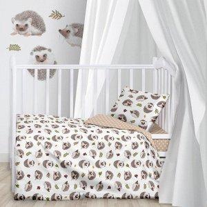 КПБ детск. поплин (40х60) рис. 16407-1/13164-3 Hedgehogs