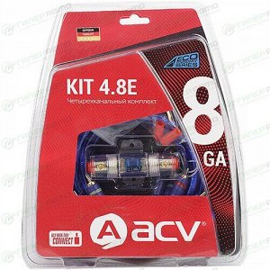 Комплект проводов 4-кан усил-ля ACV KIT4.8E, 8AWG
