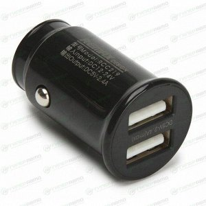 Зарядное устройство в прикуриватель Remax Roki 12/24В, 2xUSB (5В, 2.4А макс.), черное, арт. RCC219