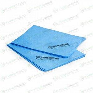 Салфетка Soft99 AION Professional Chamois, с рельефом, для влажной уборки и сбора воды, универсальная, 430х330мм, синяя, комплект 2 шт, арт. 6PTU1-APROL(B)
