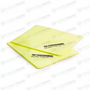 Салфетка Soft99 AION Professional Chamois, с рельефом, для влажной уборки и сбора воды, универсальная, 430х330мм, жёлтая, комплект 2 шт, арт. 6PTU1-APROL(Y)