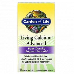 Garden of Life, Living Calcium, улучшенная формула, 120вегетарианских капсул
