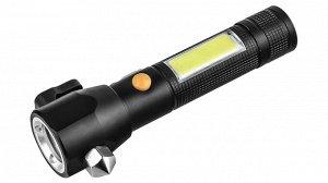 Универсальный фонарь на магните со стеклобоем T6+COB 450 Lm - Идеальный фонарь для дежурного комплекта инструментов в автомобиль, мастерскую, тревожного рюкзака и активного отдыха. Фонарь оснащен двум