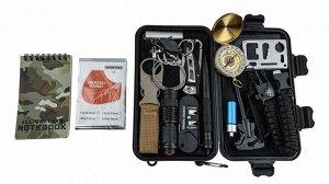 Тревожный чемоданчик выживания 16-в-1 (H1) - В комплект входит максимальный набор аксессуаров для выживания. Идеальный набор для туристов, военнослужащих, рыбаков, охотников, всех, кто бывает на приро