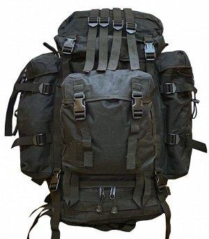 100-литровый модульный тактический рюкзак (черный) - (CH-096) Большой отсек на тыльной стороне можно использовать для ношения компактного ноутбука или радиостанции. Возможна установка гидратора на 2-4