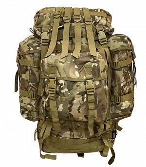 Многодневный тактический рюкзак (100 литров, Multicam) - (CH-096) Рюкзак оснащен двумя большими боковыми карманами и съемным тыльным модулем. Спина FAS (Fully Adjustable System) PLUS Military, имеет л