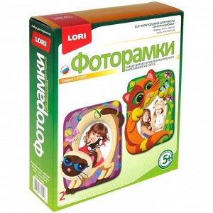 """Набор для изготовления фоторамок из гипса Lori """"Кошки-мишки"""", картонная коробка"""