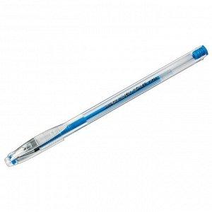 "Ручка гелевая Crown ""Hi-Jell Color"" голубая, 0,7мм"
