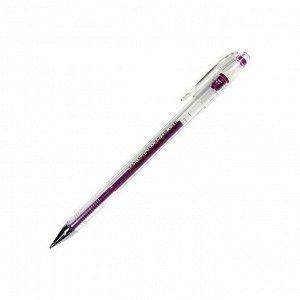 Ручка гелевая фиолетовая металлик, 0,7мм