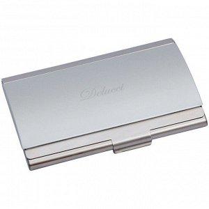 Визитница карманная Delucci, алюминий, матовая/глянцевая, подарочная упаковка