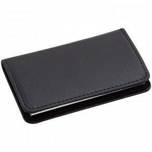 Визитница карманная Delucci, искусcтвенная кожа, подарочная упаковка
