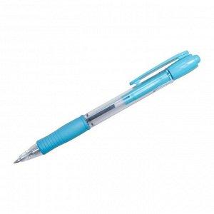 """Ручка шариковая автоматическая """"Super Grip"""" F-SL, синяя, 0,7мм, голубой грип"""