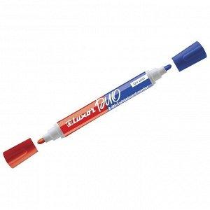 """Маркер для белых досок двухсторонний Luxor """"Duorite"""" синий/красный, пулевидный, 1-3мм"""